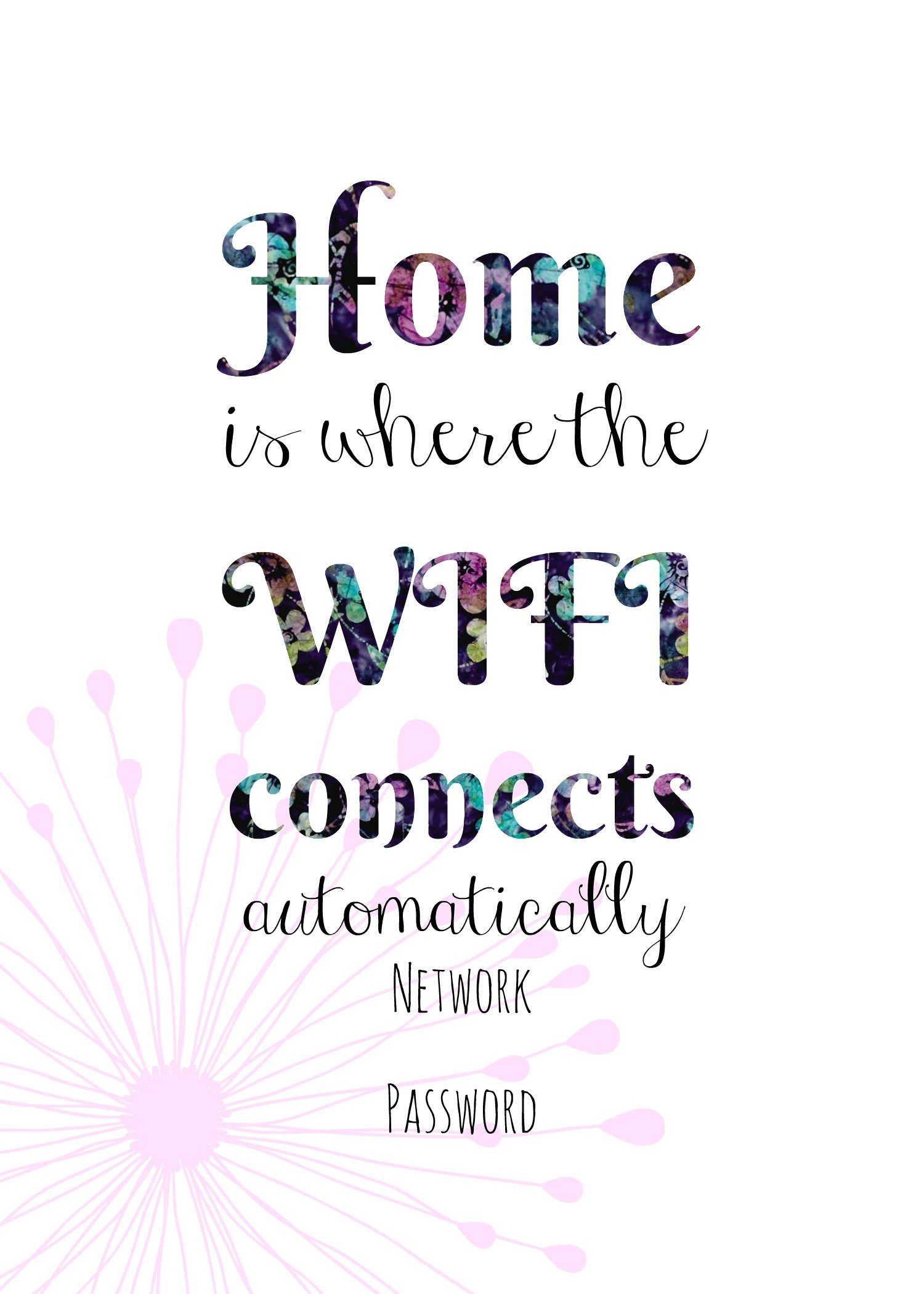 Free Printable Wifi Sign Guest Room Ideas