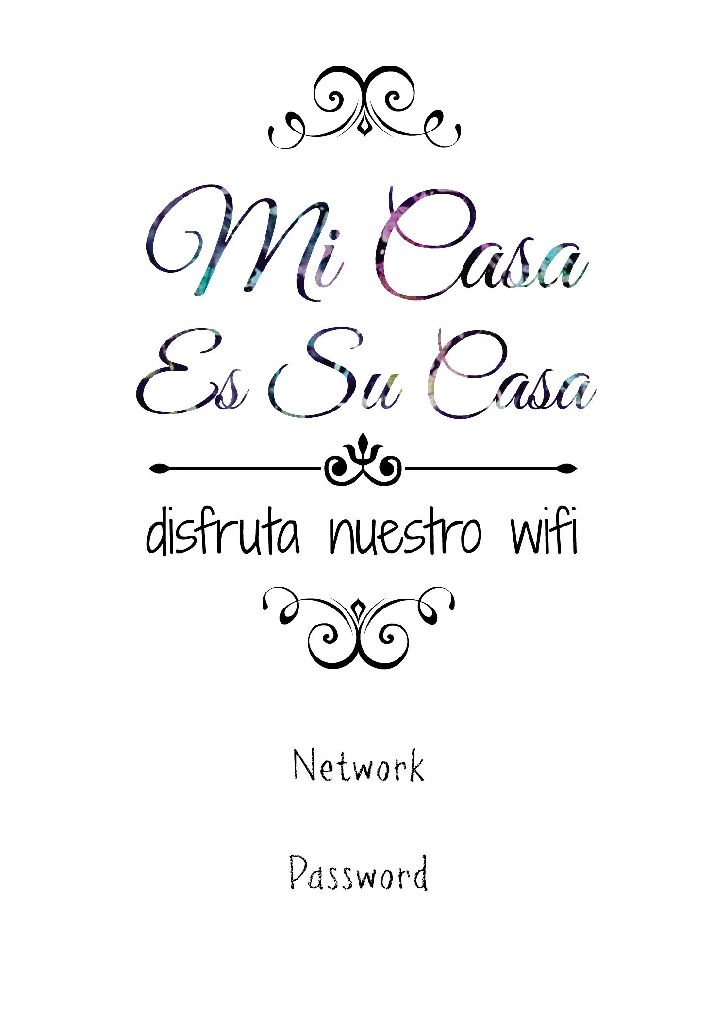 Download Free Printable Wifi Password Sign Template Word Images